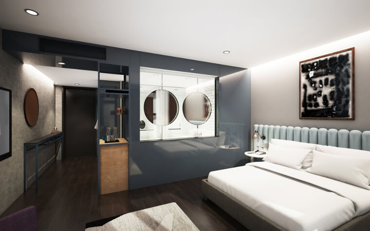 Modern and chic guestroom
