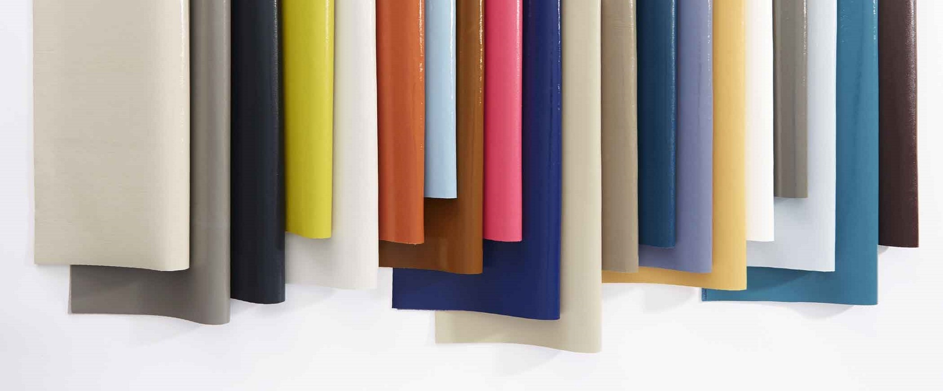 Fabrics in a line