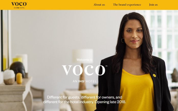Voco webpage