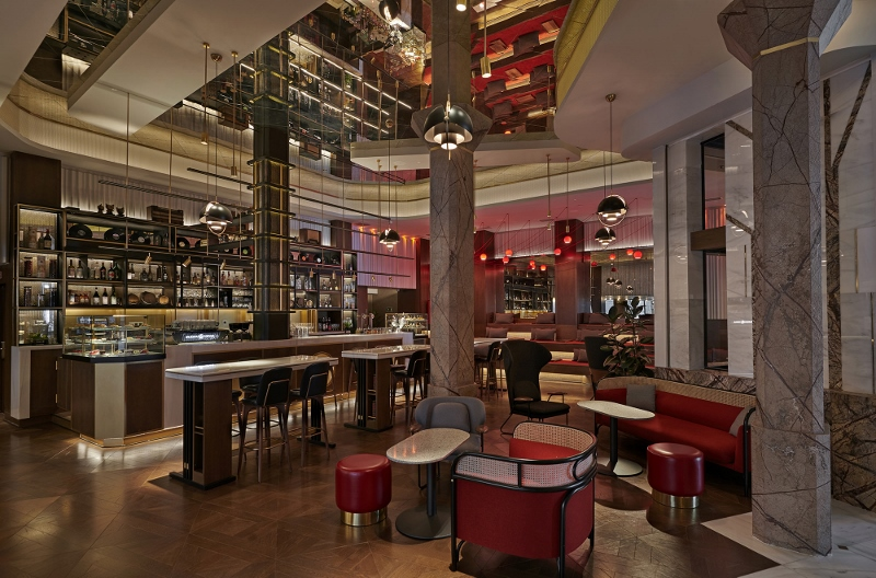 """7c4f81a57a07 """"Ondas"""" (vibes) is the quirky ground floor space inspired by radio station,  music halls and theatres of the Gran Via juxtaposing reception, lobby  lounge and ..."""