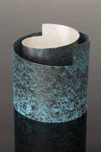Vase with Blue collar by Rebecca de Quin