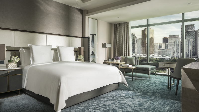 Guestroom concept at Four Seasons Kuala Lumper