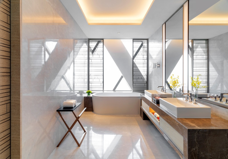Slick, modern Bathroom design