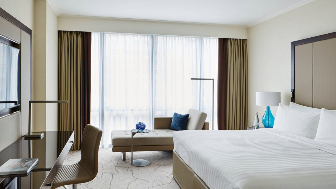 Sleek interiors at London Marriott West India Quay