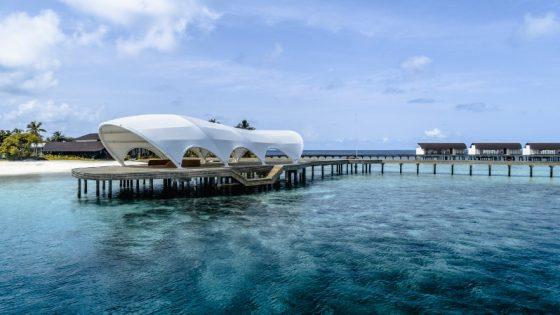 Render of overwater facilities