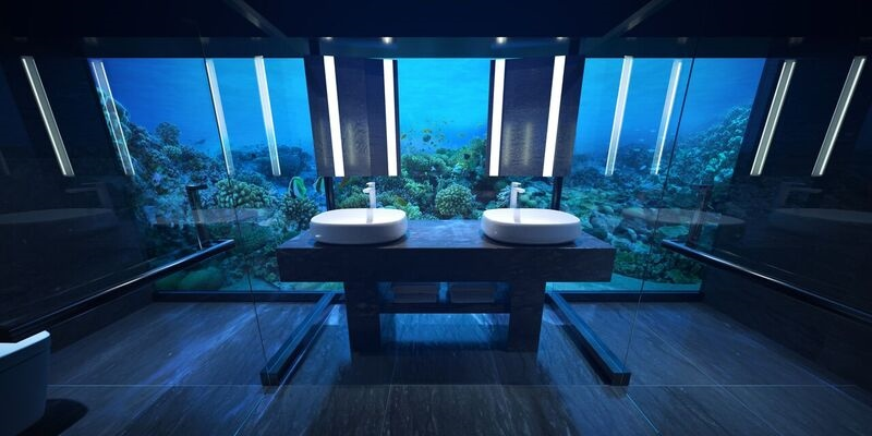 Render of underwater bathroom