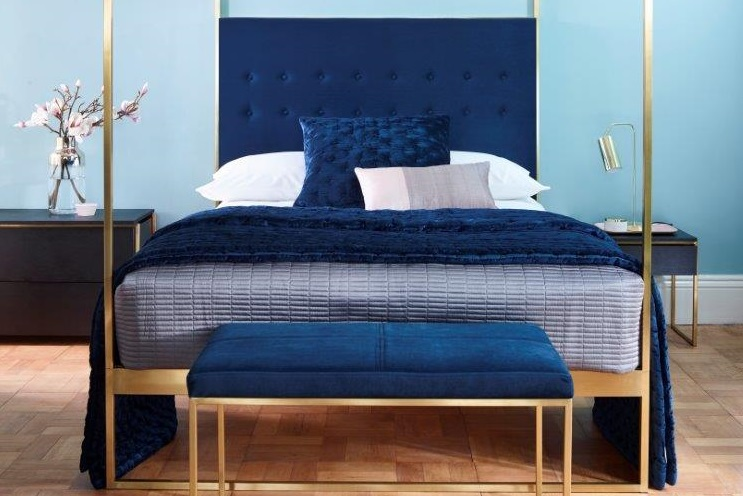 Decorex International 2018_Blue Trend Colours_Federico bed from Gillmore Space
