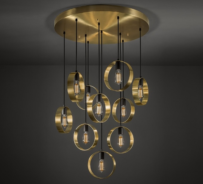 Halo in a chandelier lighting configuration