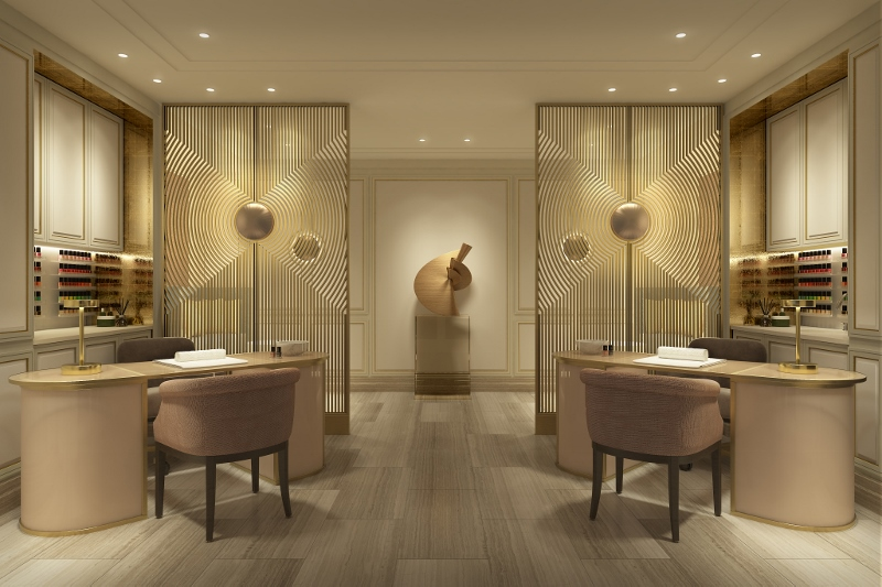 Render of the beauty room