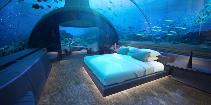 Render of Underwater guestroom