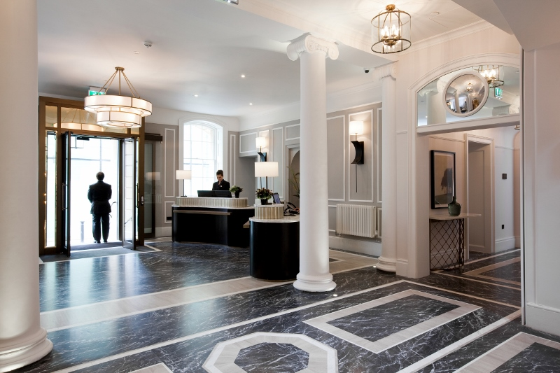 The lobby at The Gainsborough
