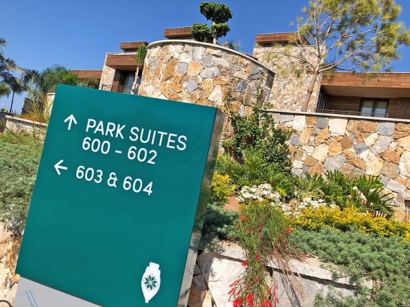 Public area signs at Parklane, a Luxury Collection Resort & Spa, Limassol