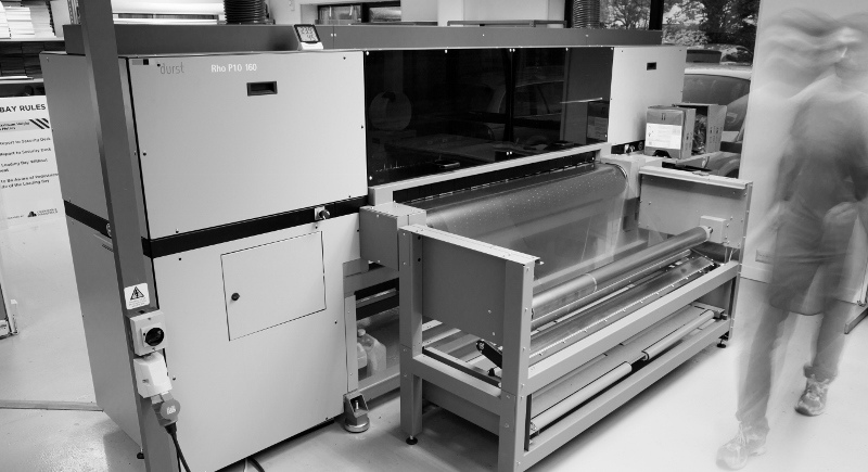Black and white factory printing machine