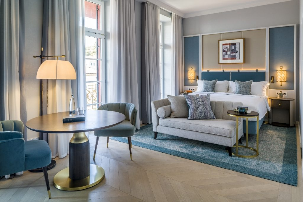 Each room features a bespoke Axminster rug from Brinton's
