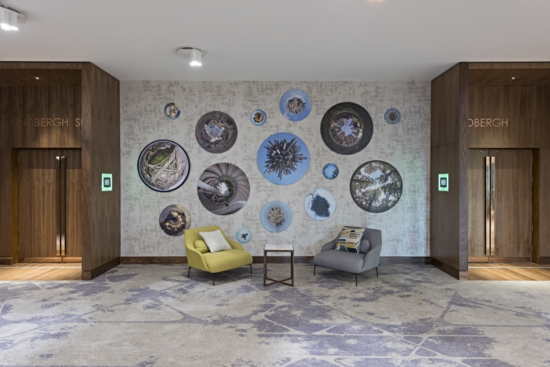 ARTIQ were commissioned to curate an art collection for The Marriott Heathrow Conference, Banqueting & Event Space, redesigned by EPR Architects alongside works for the bedrooms, designed by Anita Rosato Interior Design.