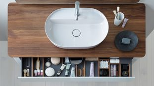 Above shot of the bathroom furniture from Duravit