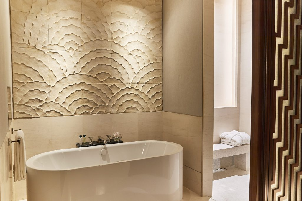 The Kaldwei freestanding bath in The Capitol Kempinski Hotel
