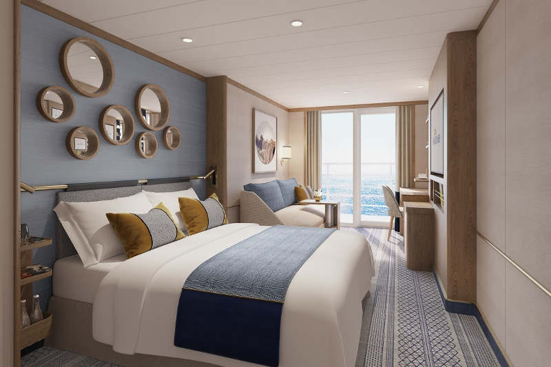 Render from Richmond International of Balcony Cabin