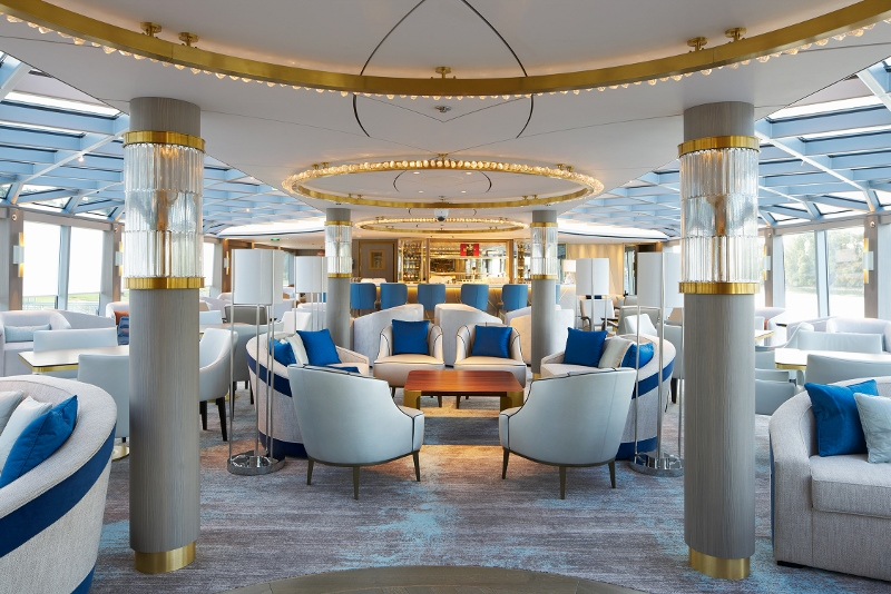 Light and airy interiors in the cruise ship