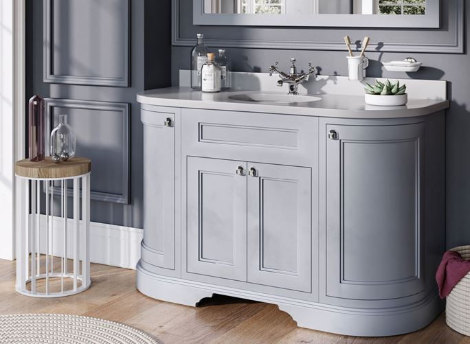 Grey traditional bathroom furniture