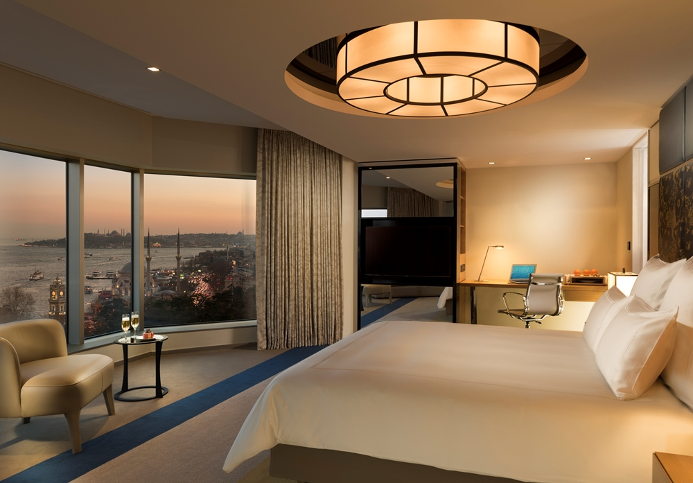 chandelier in a modern guestrooms