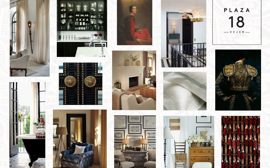 Various images of bedrooms, door fittings and art