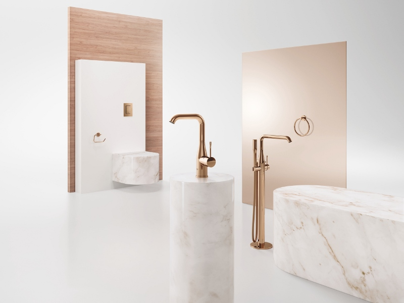 The GROHE Colours Collection allows the utmost possible creative freedom for individualising your kitchen and bathroom