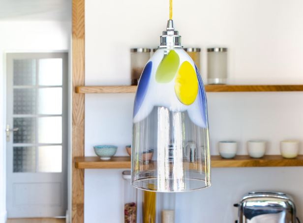 Light in the middle of a kitchen