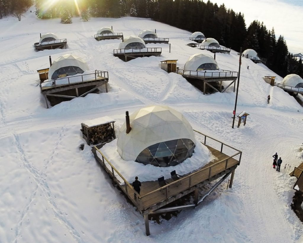 Image of the pods on the slopes