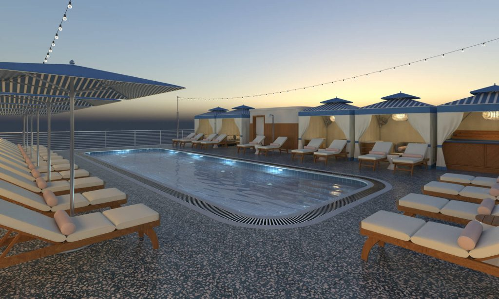 Rooftop pool render