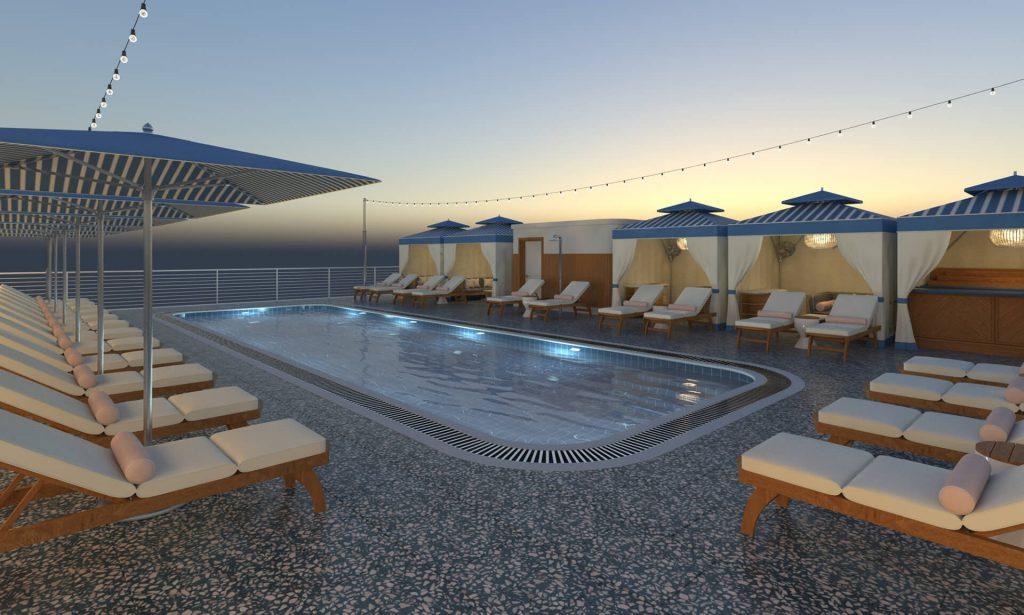 Rooftop pool render