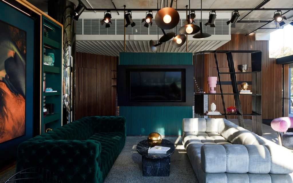 Modern and quirky living area