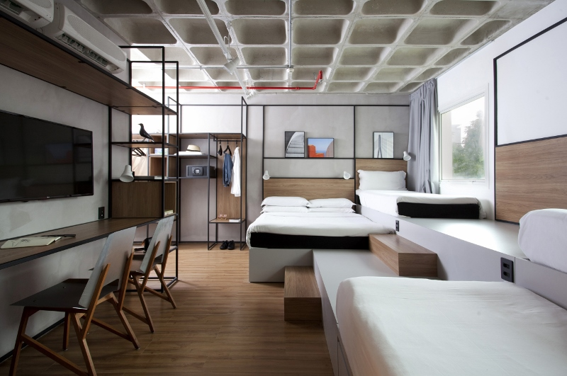 Modern Scandinavian room with flexible living spaces