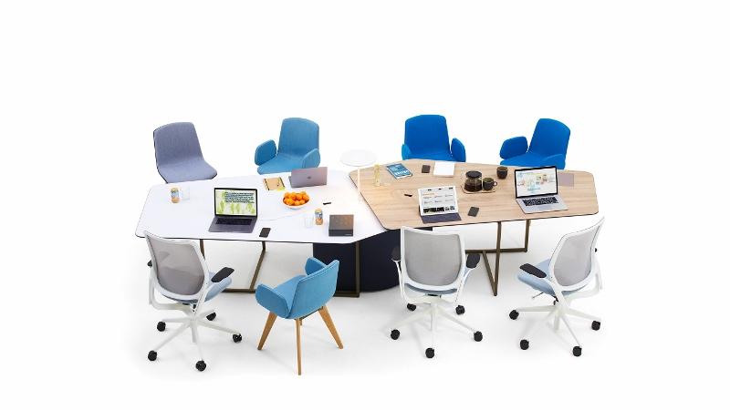 birdseye view of workplace
