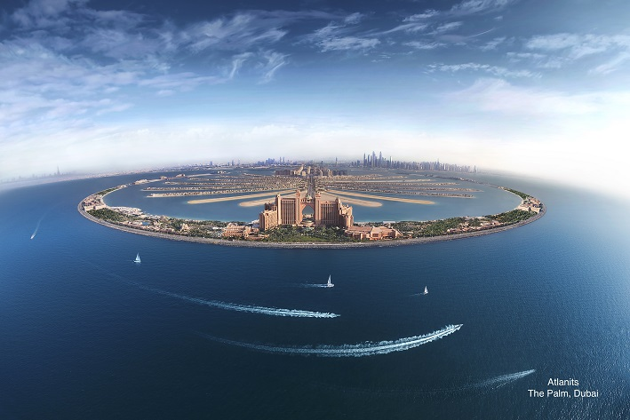 Establishing shot of Atlantis The Palm