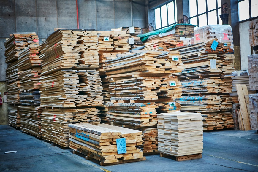 Stack of timber