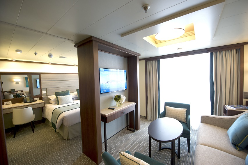 Simple, minimalist cabin on board P&O Britannia