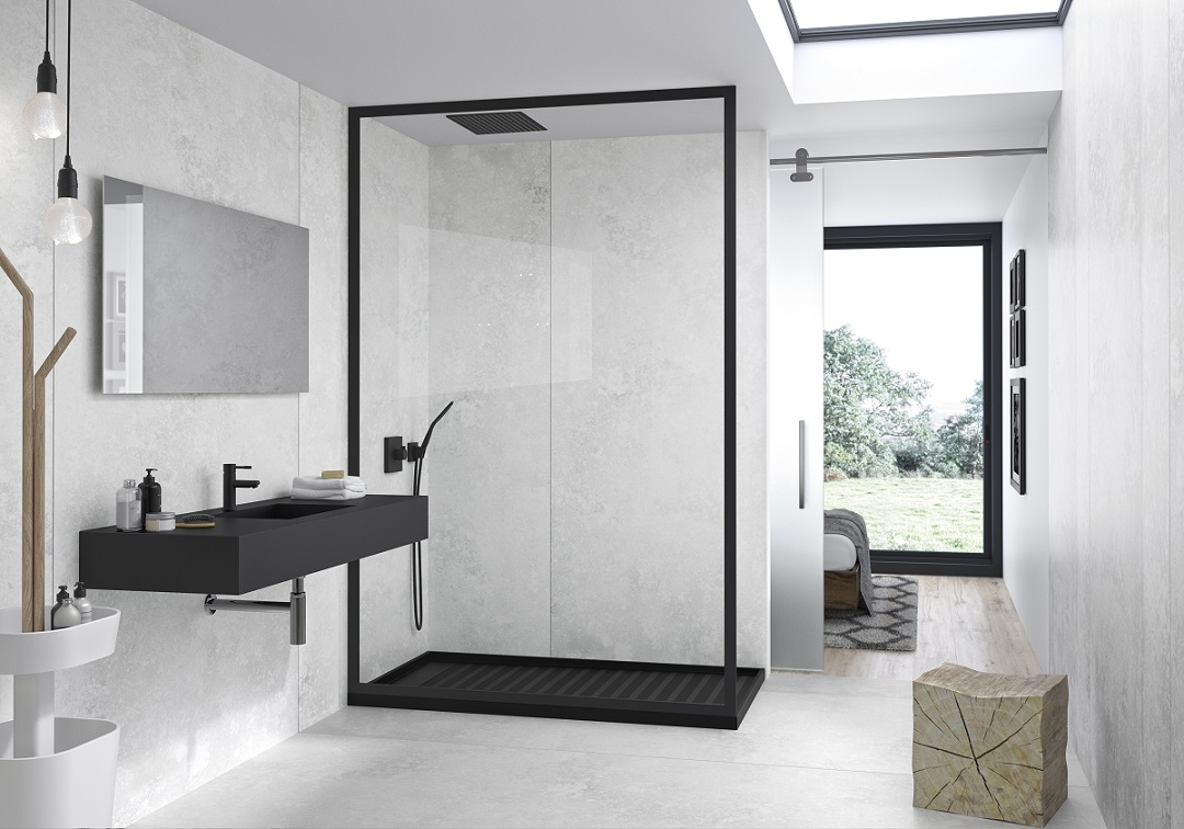Modern, sleek and clean lines in a contemporary white bathroom