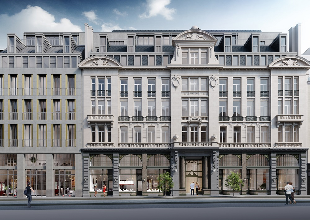Exterior render of Corinthia Brussels