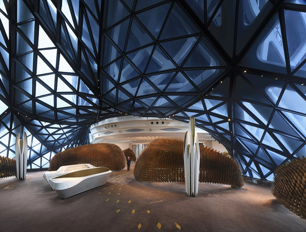 Futuristic open public areas
