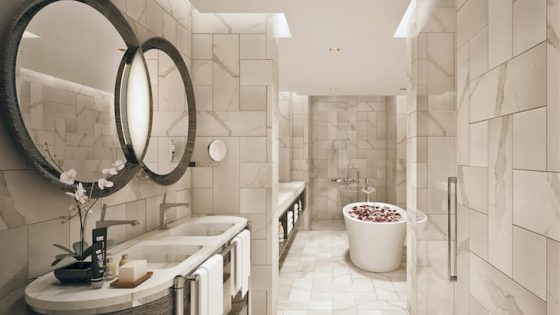 luxe marble bathroom