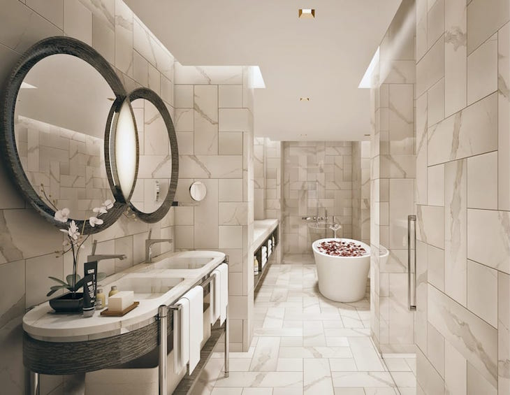 Concept To Completion Designing The Bathrooms Inside Stock Exchange Hotel Manchester Hotel Designs