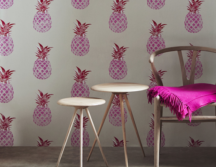 Kess InHouse Chelsea Victoria 24 Karat Pineapple Gold Digital 26 x 26 Square Floor Pillow
