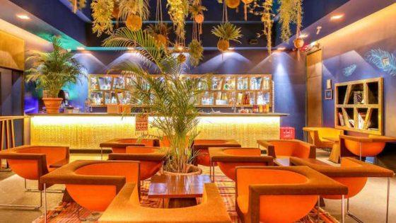 Vibrant lobby design