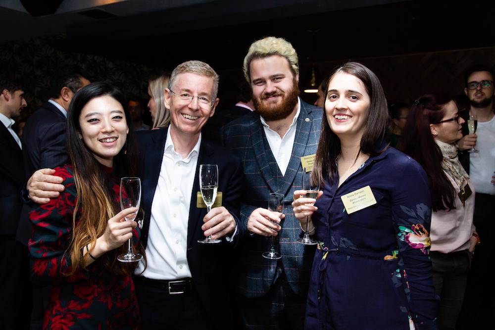 Image caption: Team at Dexter Moren Associates celebrating John Harding being in The Brit List 2019
