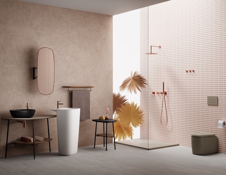 Bathroom trend of pastels is explored in Vitra's new range of bathroom products