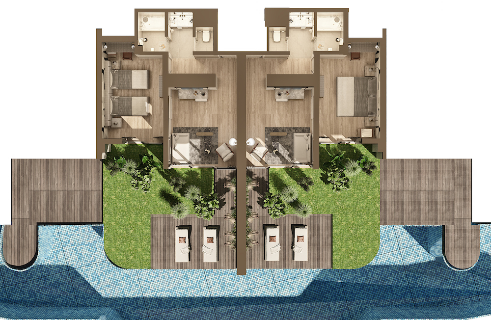 Render of new swim-up rooms