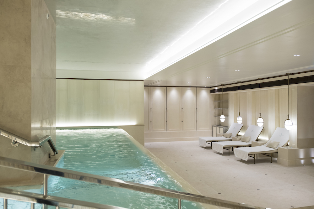 Luxury pool area inside The Lanesborough