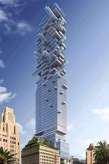 jenga-like hotel skyscraper