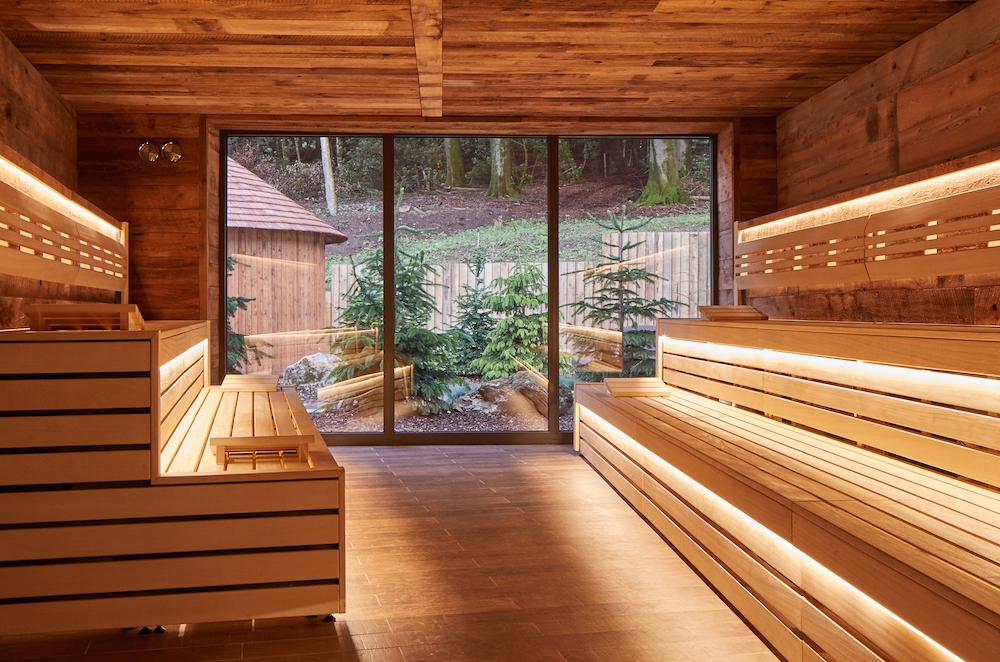 sauna looking outside